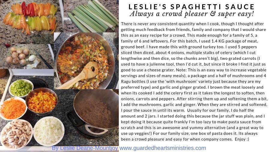 Leslie's Spaghetti sauce